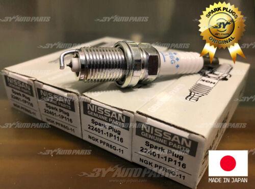 4PC NGK LASER PLATIUM SPARK PLUGS PFR6G11 5555 22401-1P116 Genuine for Nissan