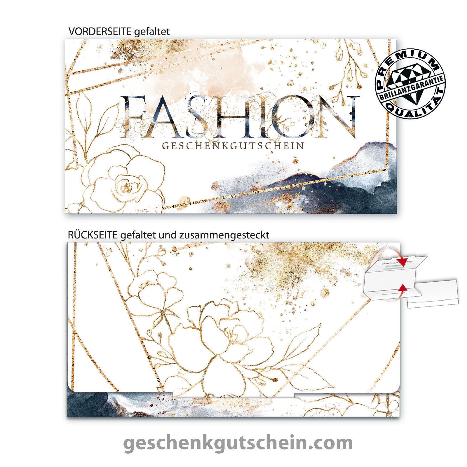 Premium Faltgutscheine  MultiFarbe  für Mode Bekleidung Jeansstore FA272  | Schönes Design  | Stilvoll und lustig