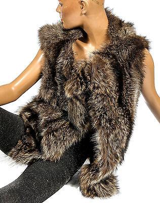 S M Procione Gilet Pelliccia Gilet Raccoon Fur Vest Pelliccia Coat Raton Laveur Gilet Pelliccia-mostra Il Titolo Originale