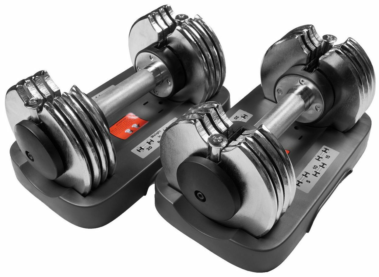 Bayou Fitness 5-25 lb Adjustable Dumbbells Set Pair of 2  Weight Exercise NEW  discount