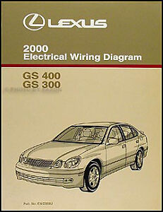 2000 lexus gs 300 400 electrical wiring diagram manual new original rh ebay com 2000 lexus gs300 amplifier wiring diagram