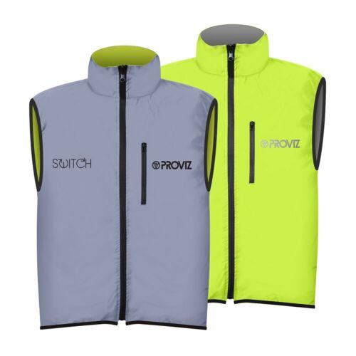 Reflective Hi Visibility Yellow Proviz Switch Men/'s Hi Viz Cycling Gilet