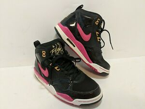 Details about Rare! Nike Air Flight 2013 Size 7 Glitter Black and pink 616298 006. EUC