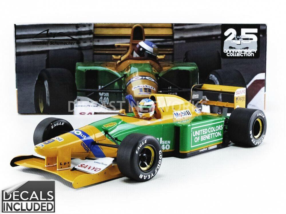 Minichamps Benetton Ford B192 MONACO Schumacher Camel Benetton Ford 1 18