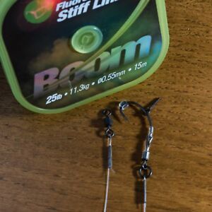3-Korda-Boom-Ronnie-Rigs-Teflon-Crochets-Carp-Cheveux-Rigs-Spinner-Fishing-Tackle