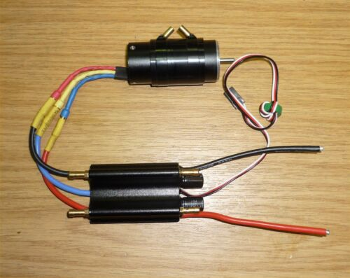 BRUSHLESS WATERCOOLED MOTOR AND ESC  2700KV 2860 motor and 50A watercooled ESC