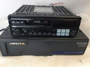 Alpine-7618R-AM-FM-Cass-CD-Changer-Controls-Alpine-CHM-5601-Changer-RECAPPED-EX