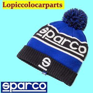 Caricamento dell immagine in corso 01232BMAZ-SPARCO-Cappello-Cappellino -Berretto-Invernale-Blu-Lana- ace65650de70