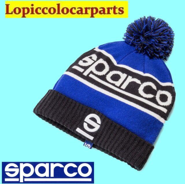 01232BMAZ SPARCO Cappellino Berretto Invernale Azzurro Lana Windy Pon Pon