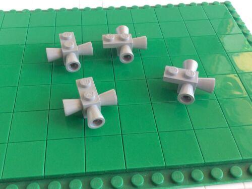 4 Piece 41 # LEGO Brick 2x1 1x2 Speaker Old Light Grey Space 3963