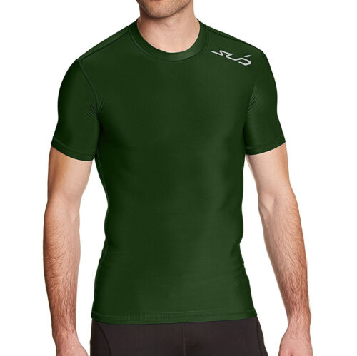 M Sub Sports Thermal Mens Compression Top Short Sleeve Baselayer Green Sport S