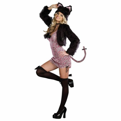 Purr-fect-Me-Pink-n-Black Kitty Cat Costume Dreamgirl 7578