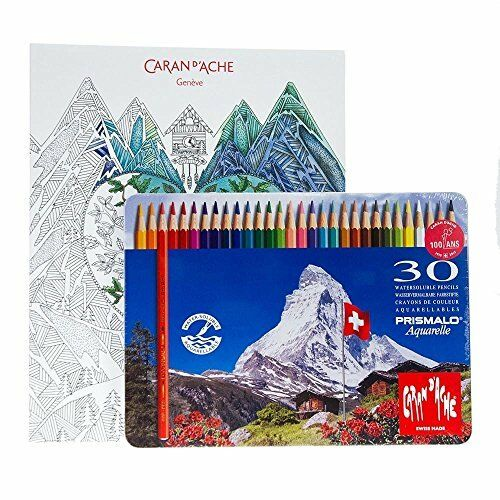 Luxury Colouring Book and Pencils Caran D/'Ache Art Therapy Gift box