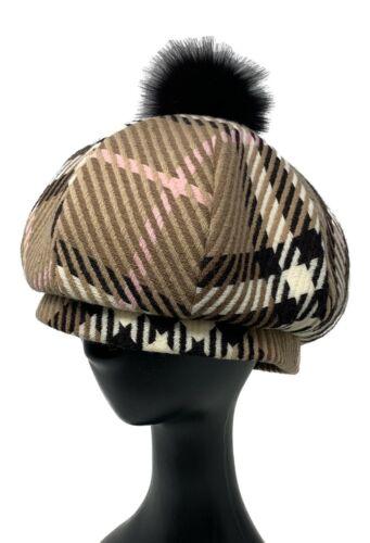 Authentic BURBERRY BLUE LABEL Hat Beret #57 Plaid