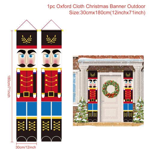 Merry Christmas Santa Banner Flag Wall Hanging Xmas Party Decoration Ornaments