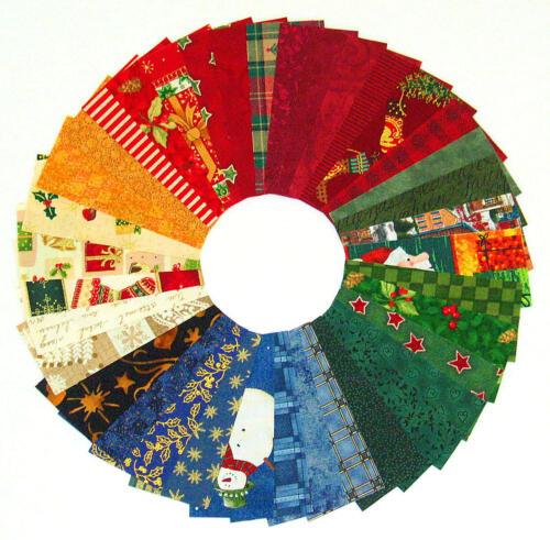 Stoffpakete Stoffstreifen je 4,5 x 10 cm Patchwork Stoffe Basteln WEIHNACHTEN