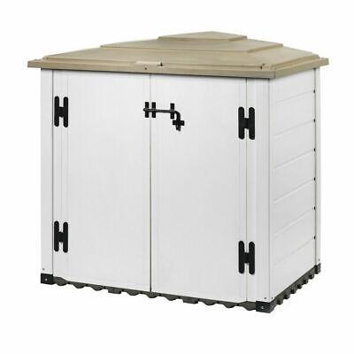 BOX CAPANNO RIPOSTIGLIO CASETTA DA ESTERNO EVO 100 IN RESINA CM 128x86x130 34947