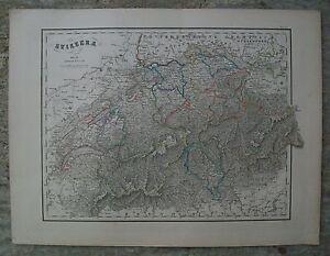 1800 SWITZERLAND SVIZZERA Carta Geografica Antica Antique Print Map P.Bezzera - Italia - 1800 SWITZERLAND SVIZZERA Carta Geografica Antica Antique Print Map P.Bezzera - Italia
