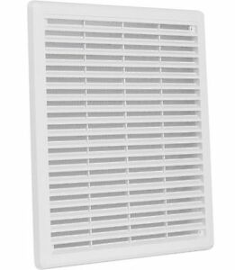 "Air Vent Grille Cover 300x300mm (12x12"") WHITE Ventilation Grill Cover"