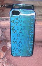 NWT Marc by Marc Jacobs Metallic Scrambled Logo iPhone 6 6s Hardcase Cover Blue