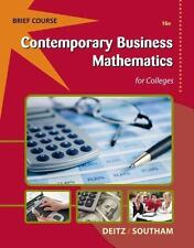 Contemporary Business Mathematics for Colleges, Brief (with Printed Access Card