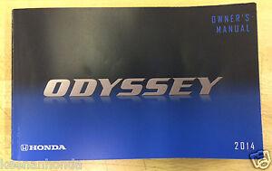 genuine honda odyssey 2014 owner s manual owners owner guide ebay rh ebay com honda odyssey 2015 owner s manual honda odyssey 2011 owners manual