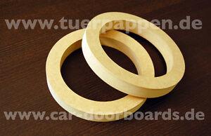 2x MDF Ring Ringe Holzringe Distanzringe für Doorboards / Boards / Soundboards