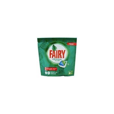 Fairy Lavavajillas Tabs Original Todo en 1 (16 cápsulas)