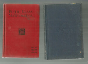 Elementary-Algebra-Geometry-for-Junior-Forms-1907-Maths-Fifth-3-OLD-BOOKS