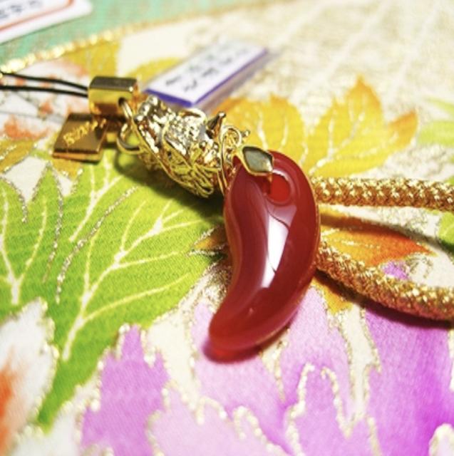 JAPANESE OMAMORI Charm Good luck charm Power stone  bracelet Green