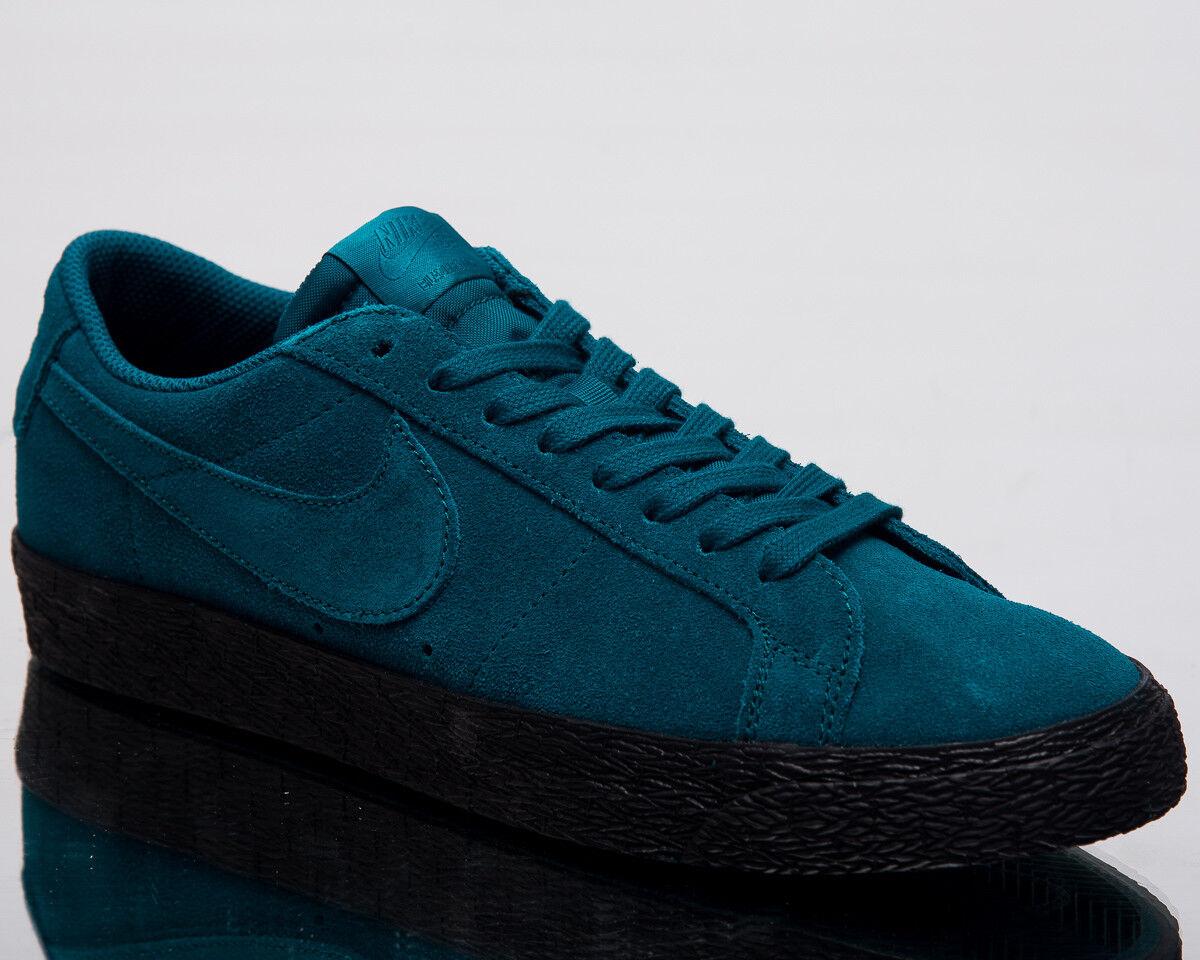 Nike Sb Sb Sb Zoom Blazer Bas Hommes Mode de Vie Chaussures Geode Bleu Canard Noir b28133