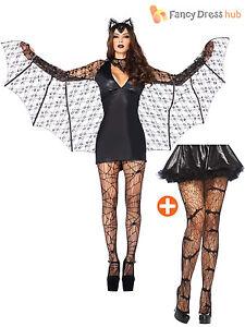 1ed0c141b6e7f Details zu Sexy Leg Avenue Ladies Halloween Moonlight Bat Vampire Fancy  Dress Costume Women