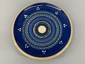C129-Teller-Buergel-Thueringen-blauweisse-Engobemalerei-D30cm