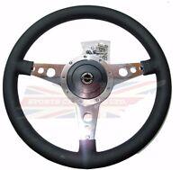 14 Moto Lita Leather Steering Wheel & Hub Adaptor Sunbeam Alpine Tiger