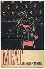 Vintage 1937 Booklet: MEAT IN MENU PLANNING - Recipes