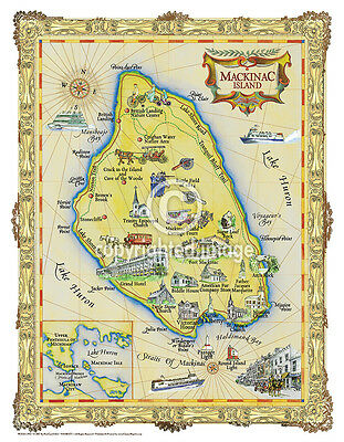 "Augustine Vintage Look Map Printed on Frenchtone Parchment Paper 19.5 x 25/"" St"