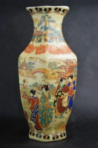 Chinese-Jingdezhen-Porcelain-Vase-Hand-Painted-beautiful-woman-Qianlong-mark