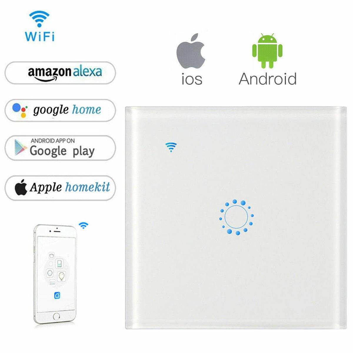 Smart Home WiFi Glas Lichtschalter Touch Wandschalter TUYA APP Alexa Google