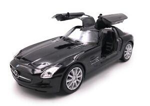 Model-Car-Mercedes-Benz-SLS-AMG-Black-Car-Scale-1-3-4-39-Licensed