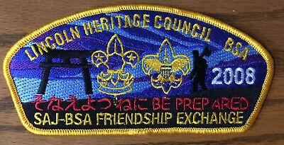 CSP  Lincoln Heritage Council  SA-39  2008 SAJ-BSA Friendship Exchange MINT