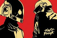 Daft Punk 24x36 Poster Music Electronic Pop Wall Art Decor French Helmets Icons