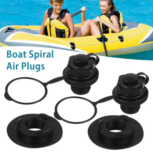 1 Pair Peplacement Caps Screw Valve Inflatable Pool Boat Spiral Air Plug Air Bed