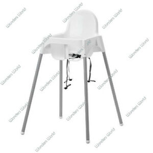 Ikea Baby Highchair With Safety Straps Antilop White Baby High Chair