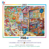 750 Piece Ceaco Jigsaw Puzzle Room With A View - Wish You Were Here 2 on sale
