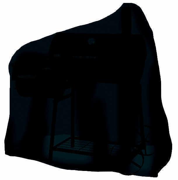 Tepro 8107 Universal Abdeckhaube - für Smoker mittel, schwarz