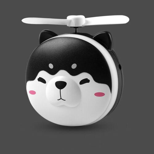 Piggy LED Makeups Mirror Pocket Fan Handheld Mini Fan Portable Small Cat USB Fan