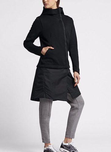 Nike para mujer Chaqueta Deporteswear  Tech Fleece todos Caliente Negro-ZIP-Corriendo Con Capucha S  punto de venta