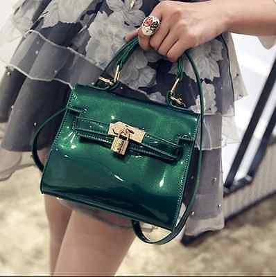 Womens patent leather sweet shoulder bag satchel Handbag Totes Fashion Elegant y