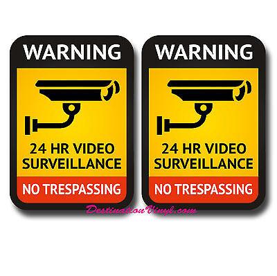 2 X Cctv advertencia pegatinas signo de seguridad de ventana tienda Indoor /& Outdoor # 6524