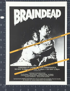 BRAINDEAD_/_DEAD ALIVE__Orig. 1992 Trade Print AD_screening promo__PETER JACKSON